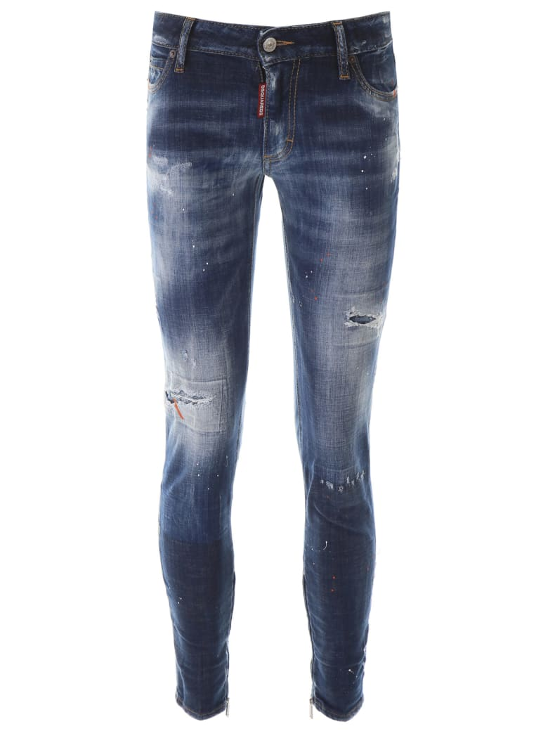 Dsquared2 Jeans With Zipped Cuffs - Denim