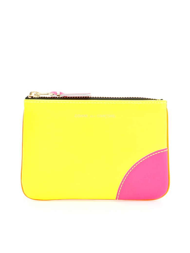 Comme des Garçons Wallet Unisex Super Fluo Pouch - YELLOW ORANGE (Yellow)