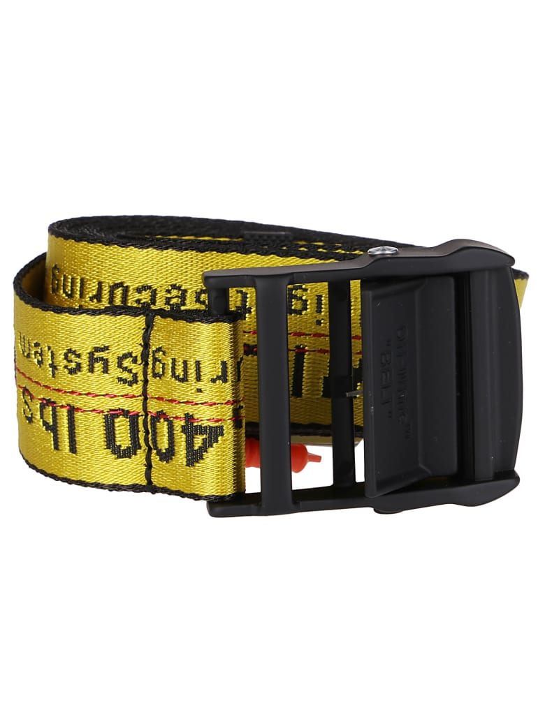 Off-White Yellow Canvas Classic Industrial Belt - Yellow