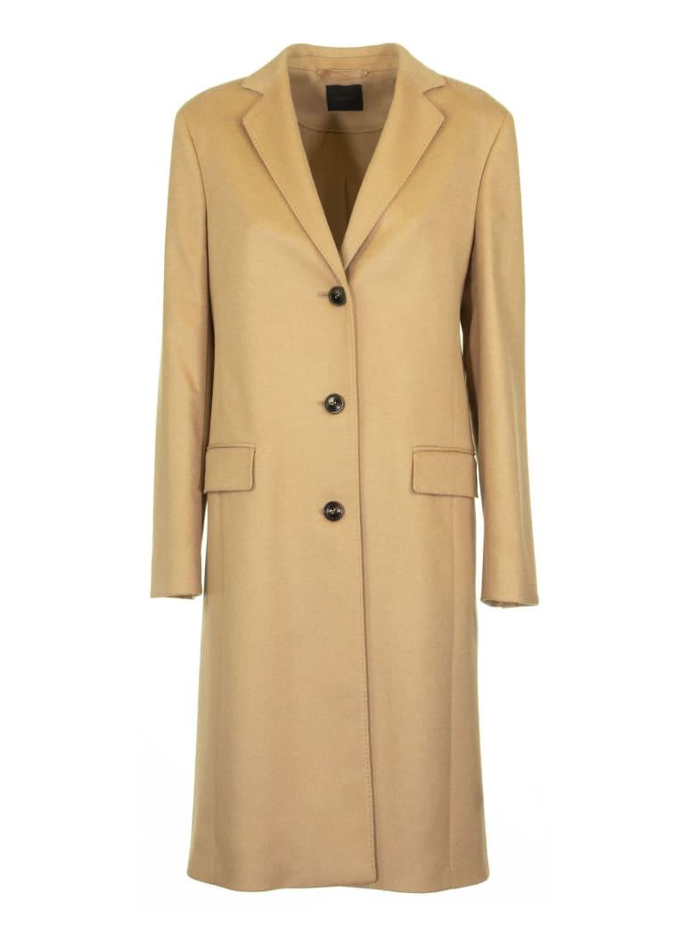 Agnona Cashmere Slim Coat, Camel - Camel