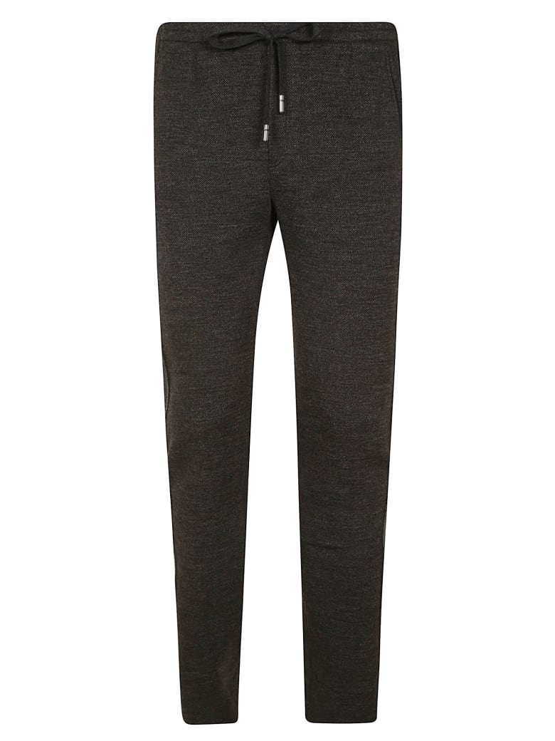 Dolce & Gabbana Drawstring Waist Slim Trousers - Grey
