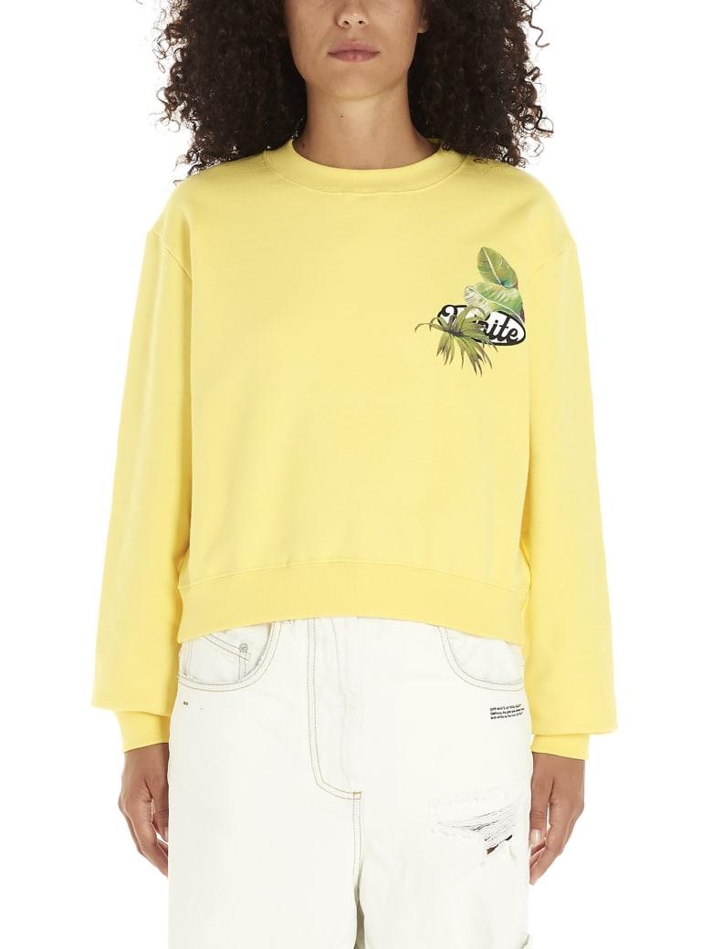 Off-White 'racing' Sweatshirt - Giallo