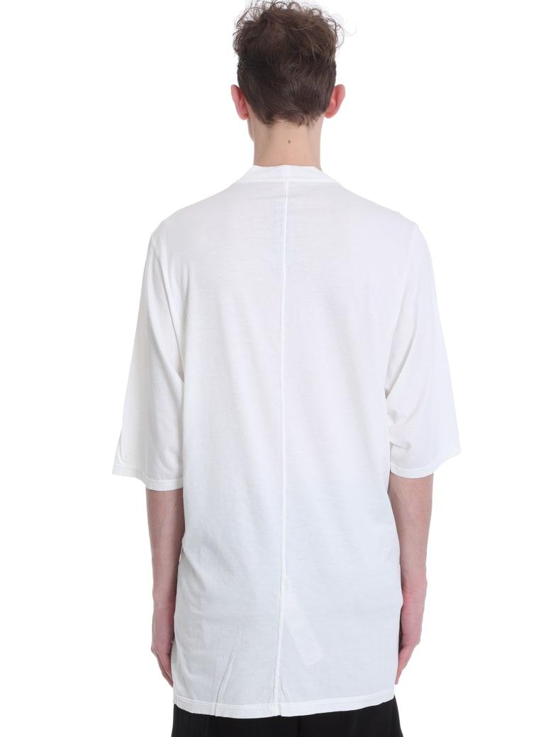 DRKSHDW Jumbo T-shirt In White Cotton - WHITE
