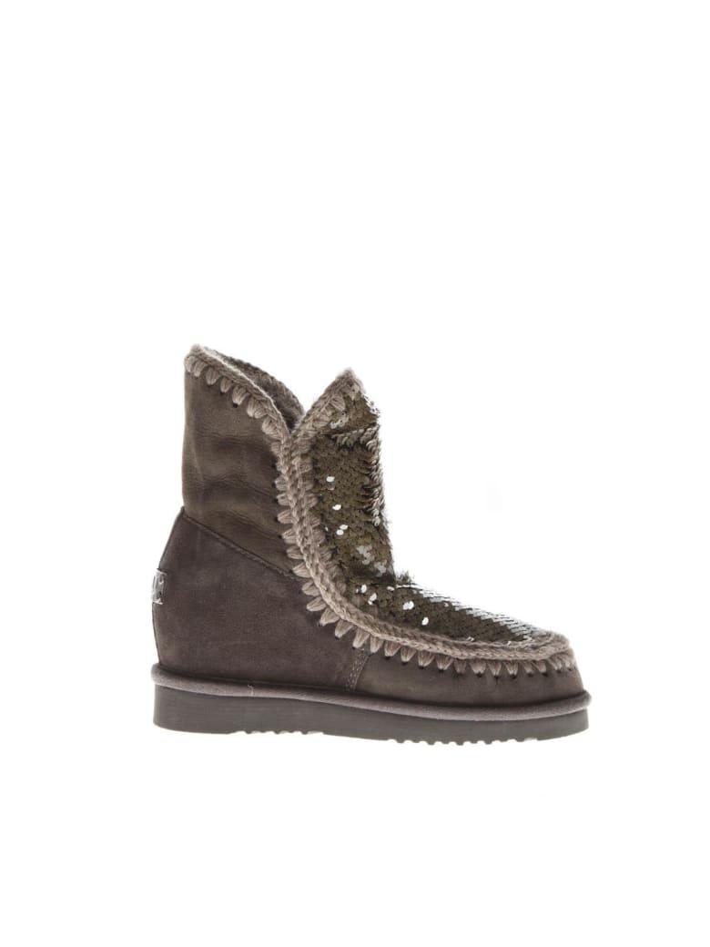 Mou Eskimo Mud Suede Sequins Boots - Mud