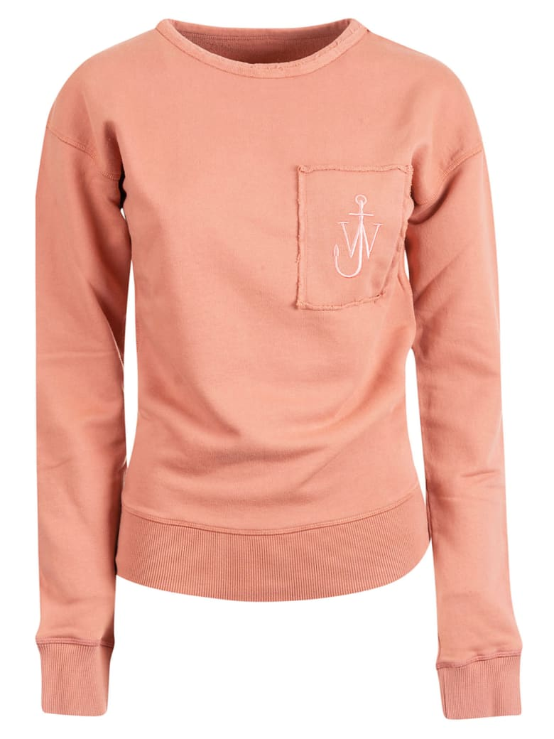 J.W. Anderson Logo Embroidered Sweatshirt - Dusty Rose