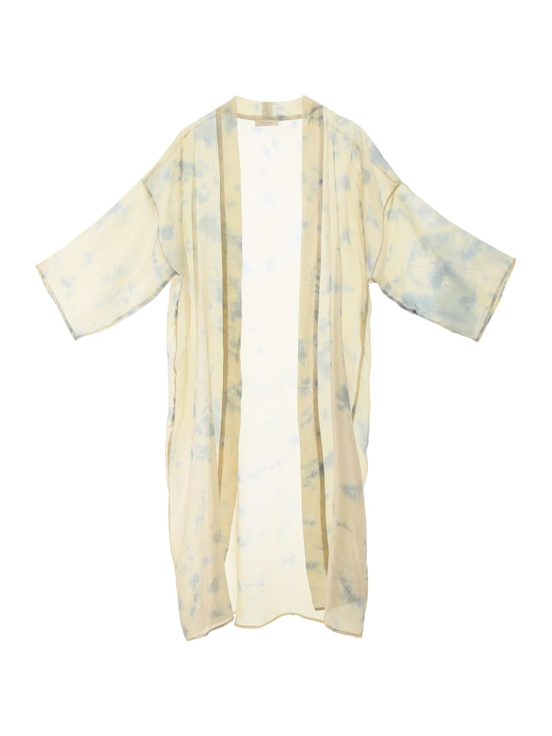 Mes Demoiselles Chorus Kimono Dress - BLUE COMBO (Beige)