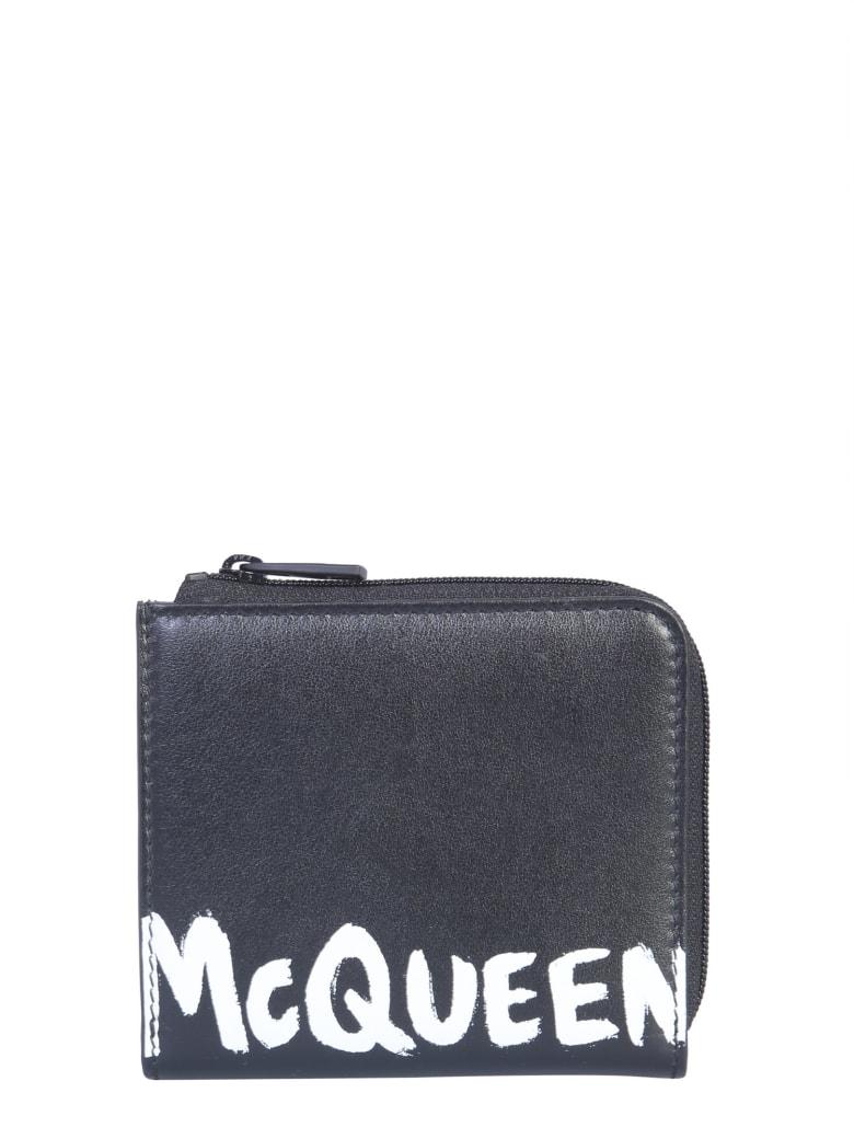 Alexander McQueen Wallet With Logo - NERO