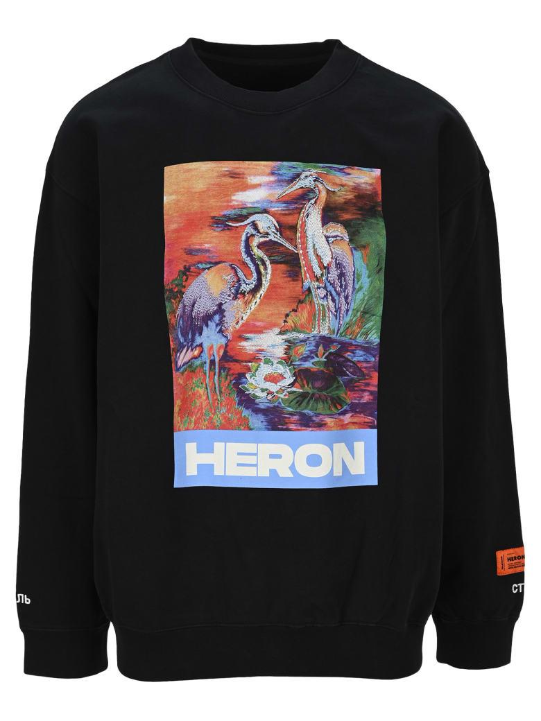 HERON PRESTON Heron Sweatshirt - BLACK MULTI