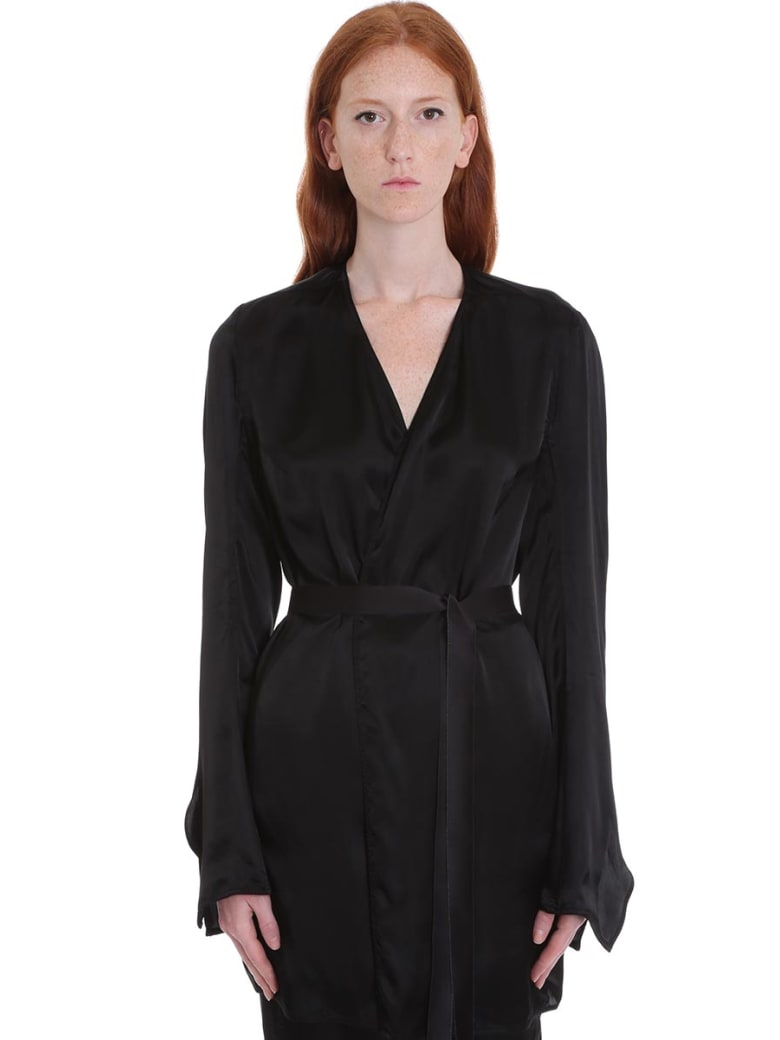 Rick Owens T Trench Jacket In Black Tech/synthetic - black