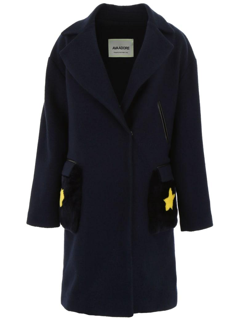 Ava Adore Coat With Fur - BLU (Blue)
