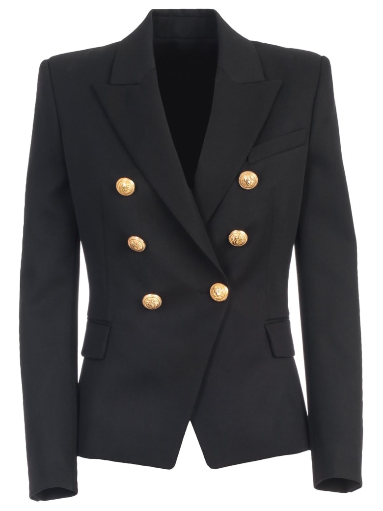 Balmain Jacket Laine 6 Buttons - Pa Noir
