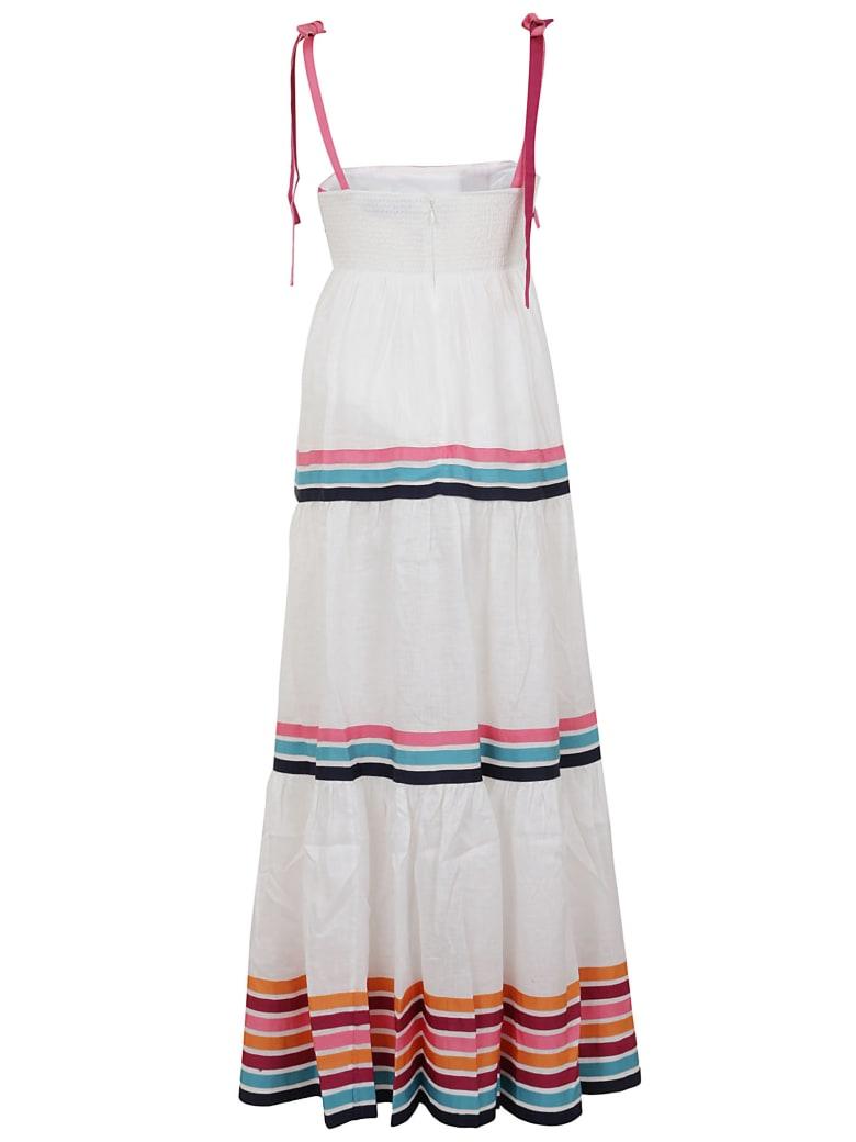 Zimmermann Lulu Ribbon Tiered Dress - Bianco