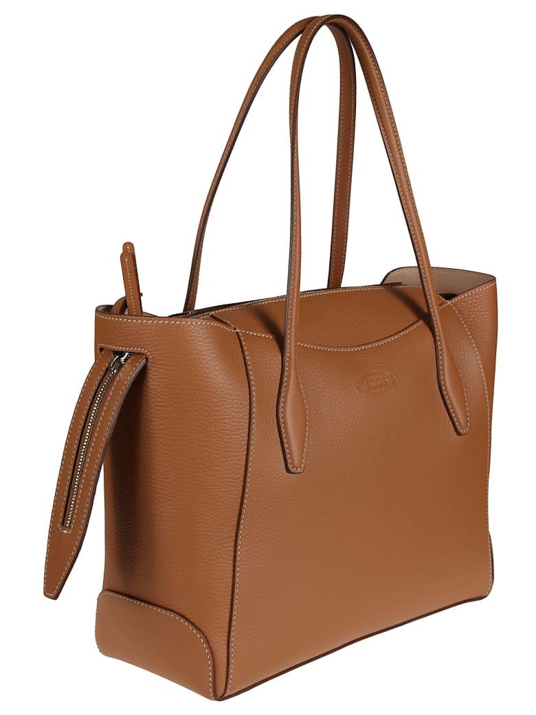 Tod's Aos Zip Media Shopper Bag - Cuoio