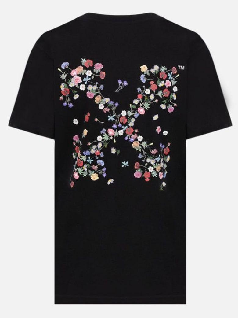 Off-White Black Cotton T-shirt - Nero