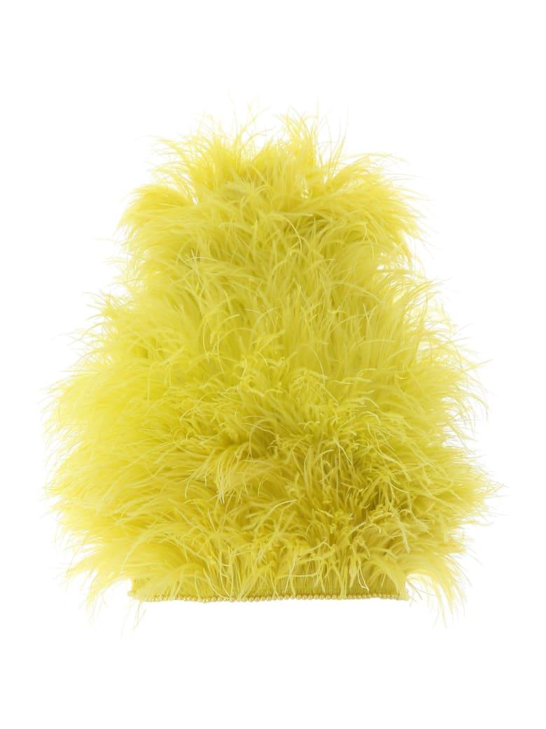 The Attico Marabou Top - LIME (Yellow)