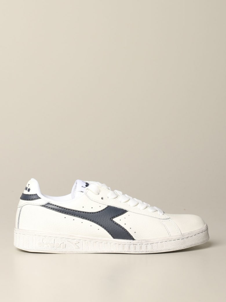 Diadora Sneakers Diadora Game L Low Waxed Sneakers In Textured Leather - blue