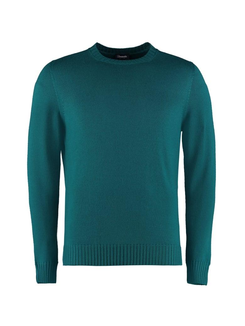 Drumohr Merino Wool Crew-neck Sweater - green