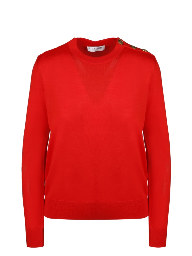 Givenchy 4g Buttons Sweater - Red