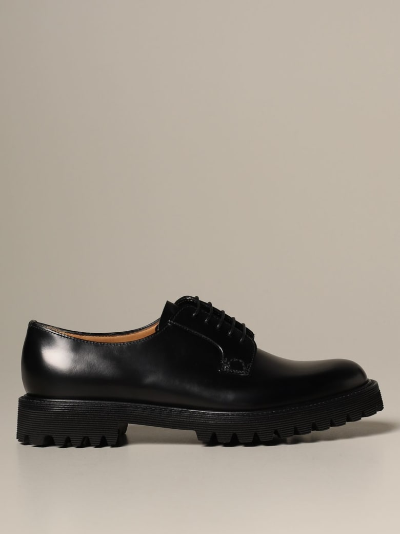 Church's Oxford Shoes Shannon Church's Derby In Brushed Leather - Black