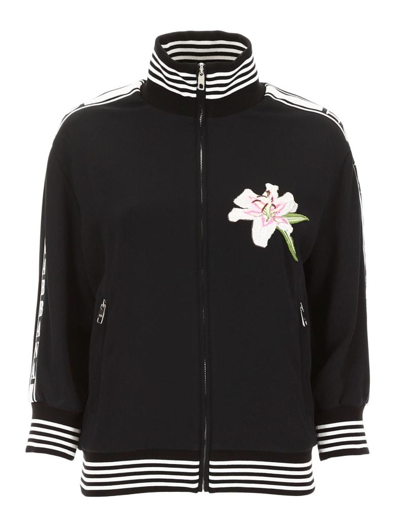 Dolce & Gabbana Lily Patch Sweatshirt - NERO (Black)