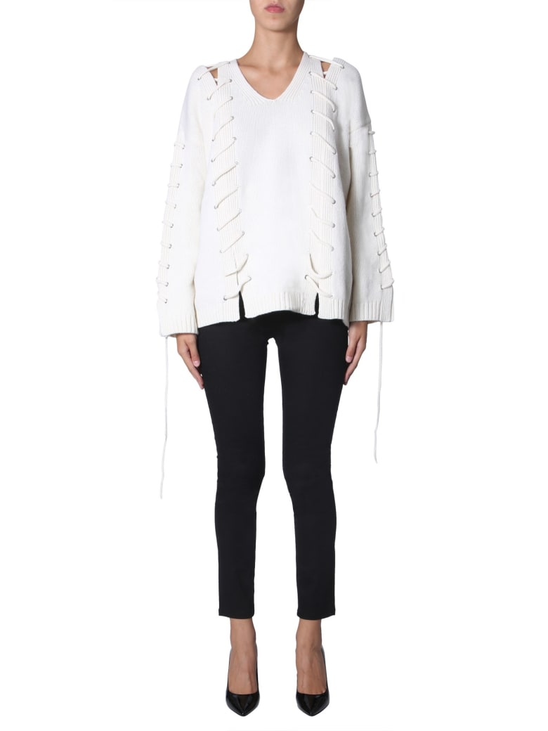 McQ Alexander McQueen V-neck Sweater - BIANCO