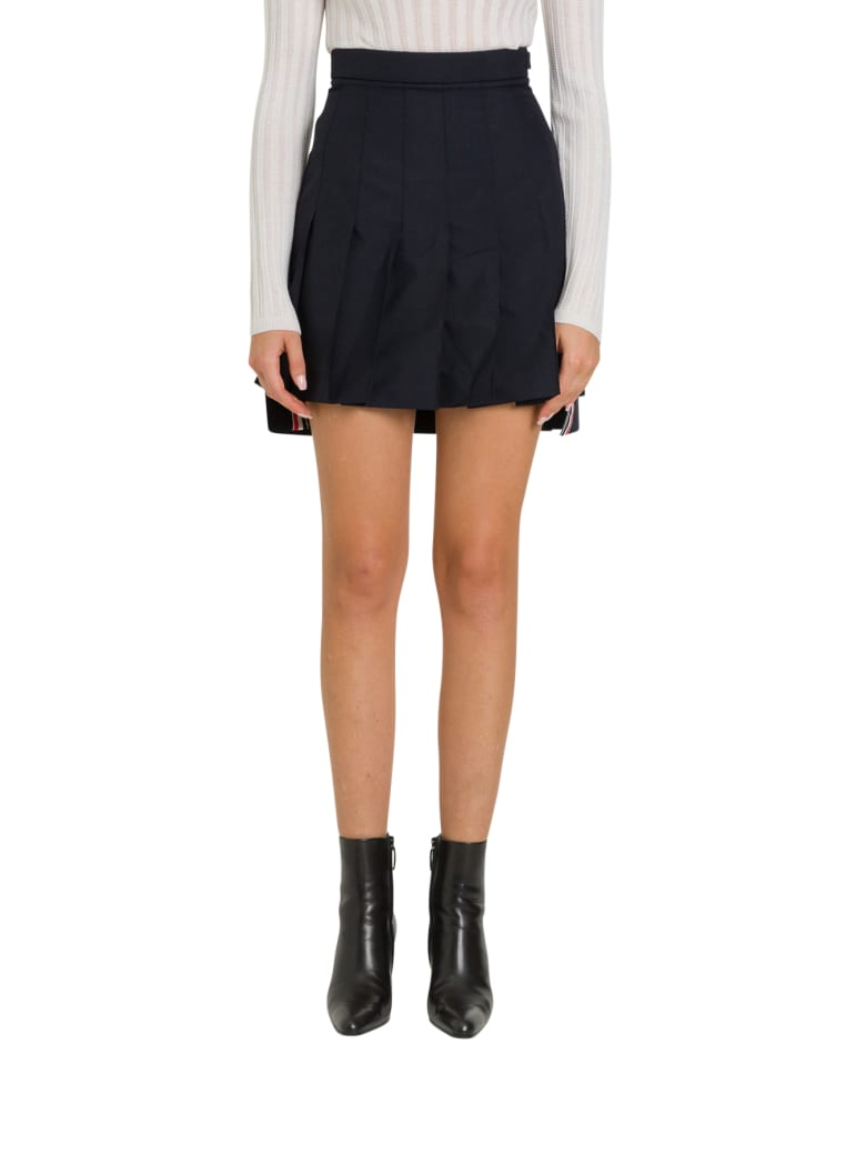 Thom Browne Super-high Waist Miniskirt - Blu