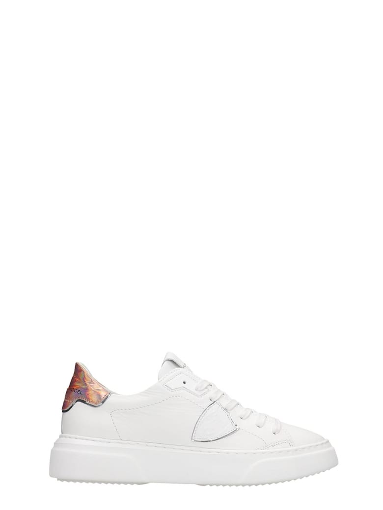 Philippe Model Temple S Sneakers In White Leather - white