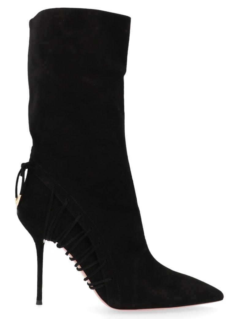 Aquazzura 'all Mine Boot' Shoes - Black