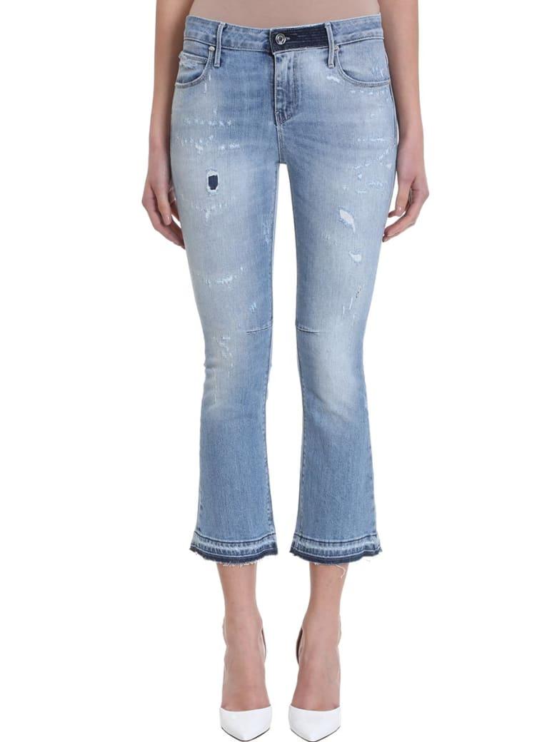 RTA Cropped Flared Jeans - cyan