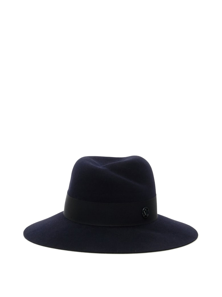 Maison Michel Virginie Hat - NAVY (Blue)