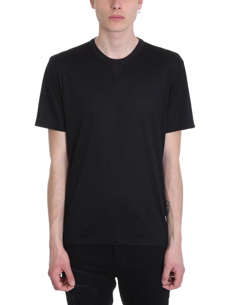 Ermenegildo Zegna Black Cotton T-shirt - black
