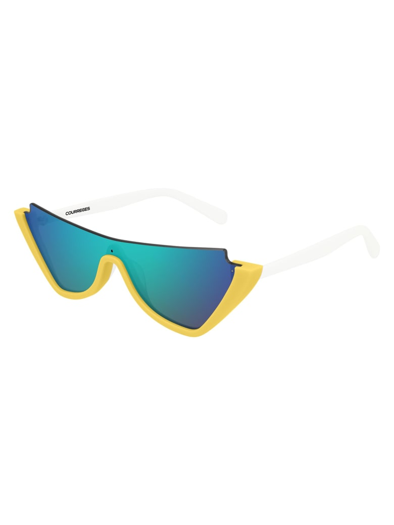 Courrèges CL1910 Sunglasses - Yellow White Green