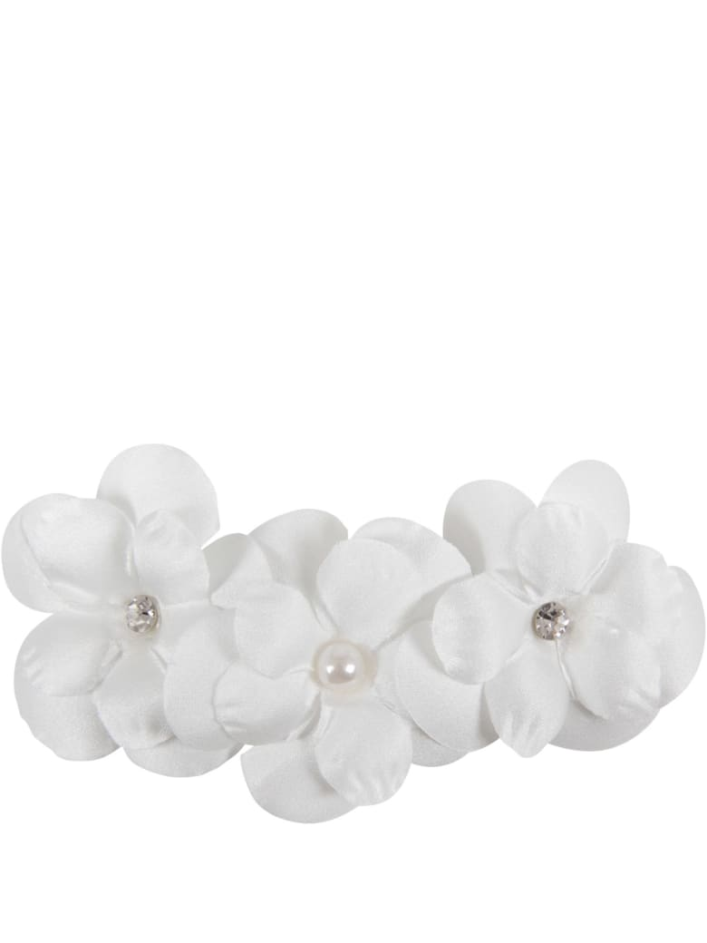Loredana White Hair Clip For Girl - White