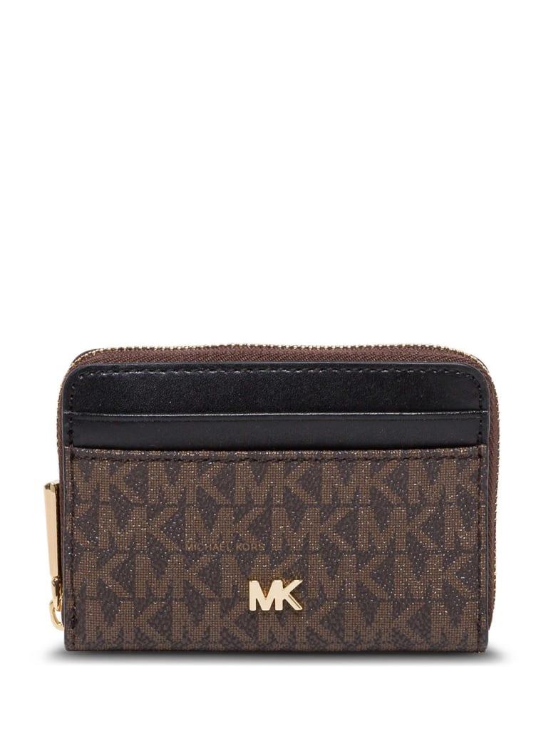 MICHAEL Michael Kors Jet Set Wallet With Allover Logo - Brown