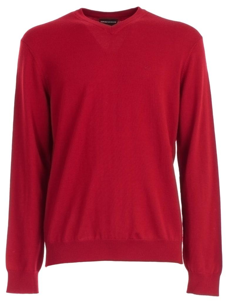Emporio Armani Sweater - Rosso Intenso
