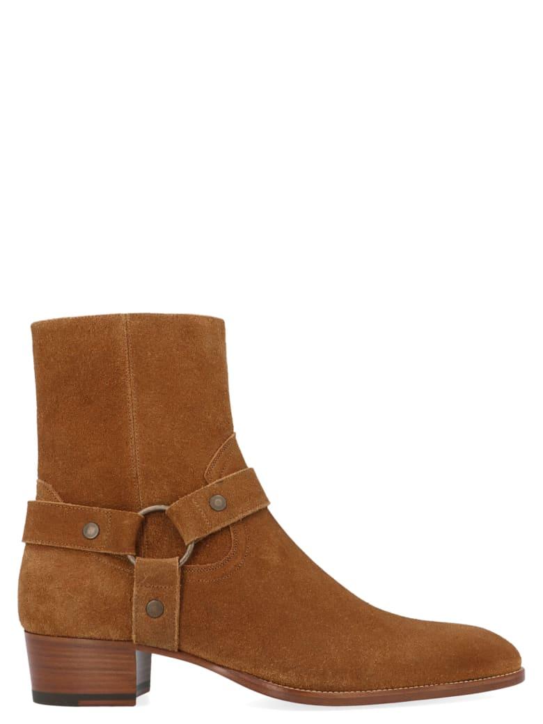 Saint Laurent 'wyatt' Shoes - Marrone