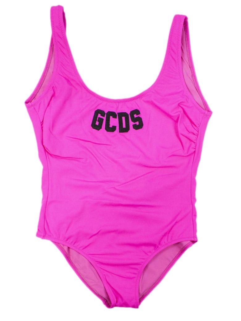 GCDS Pink Lifeguard Swimsuit - Fuxia