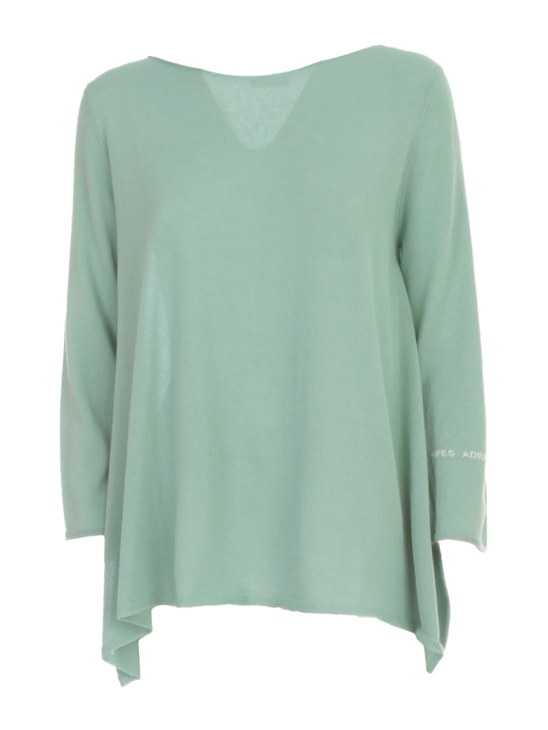 Archiviob Asymmetric Striped Sweater L/s - Aqua