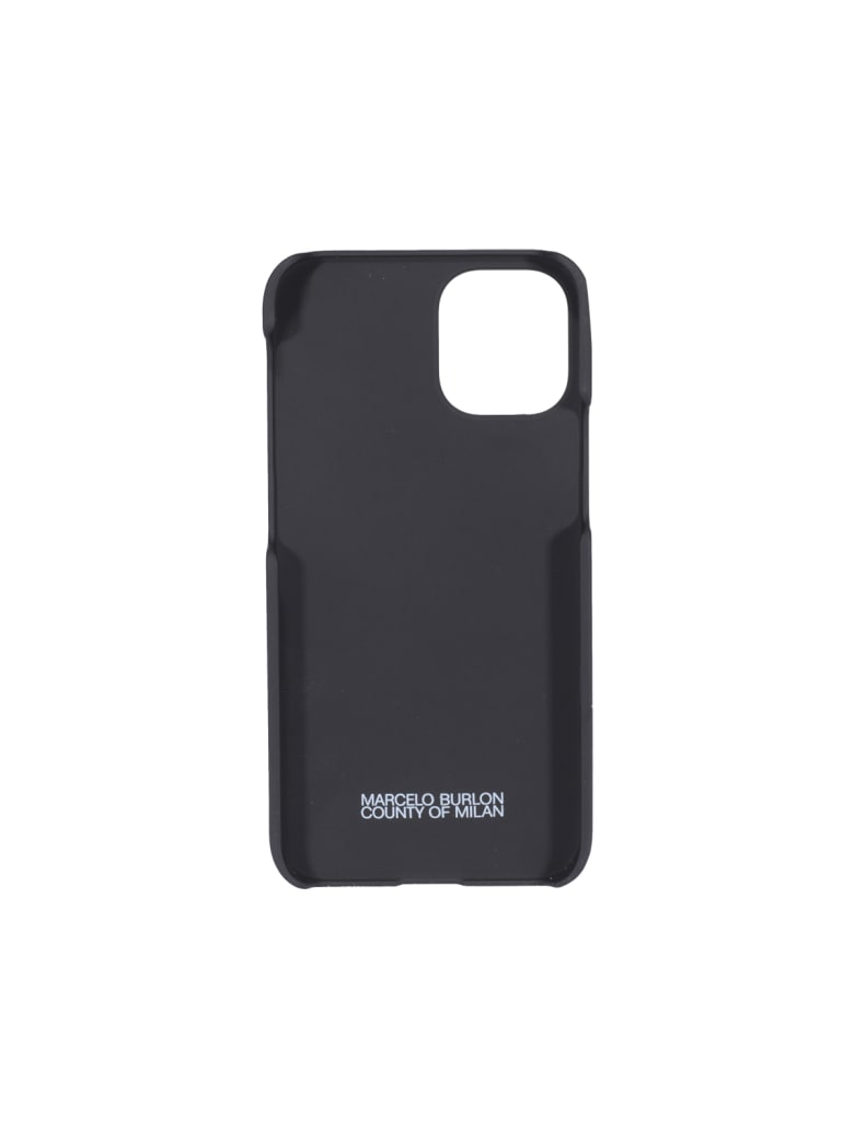Marcelo Burlon Iphone12 Wings Case - Black white