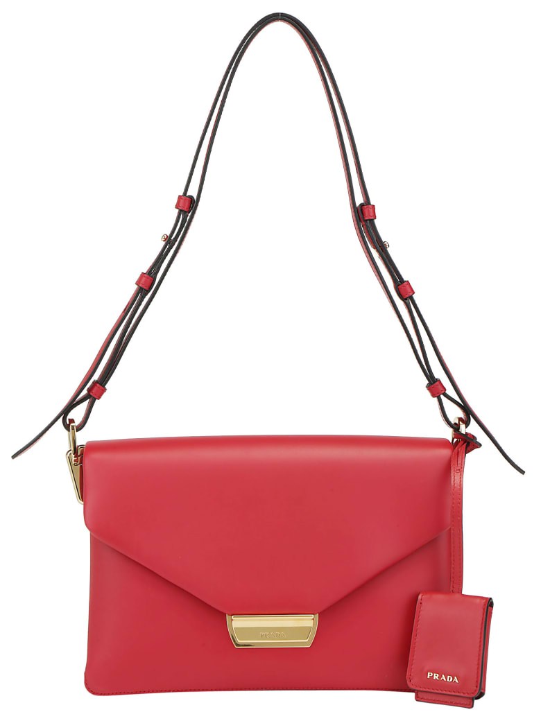 Prada Pattina Shoulder Bag - Fuoco
