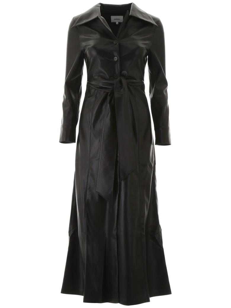 Nanushka Faux Leather Tarot Dress - BLACK (Black)