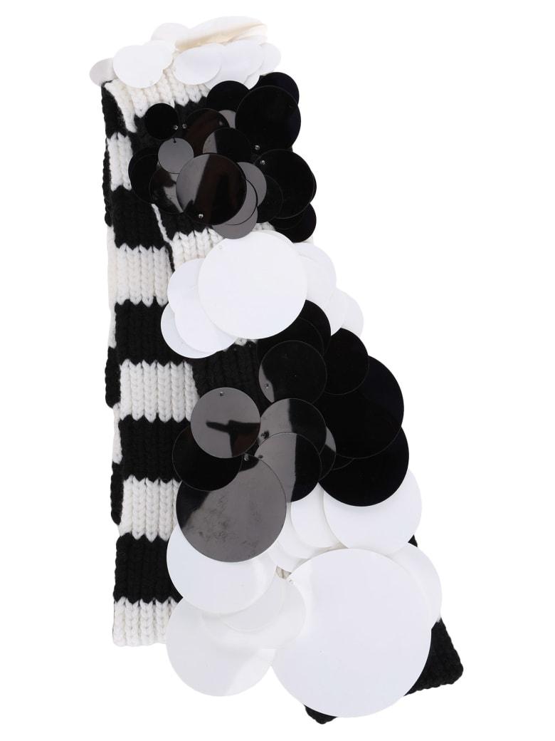 Prada Cashmere Scarf - WHITE + BLACK