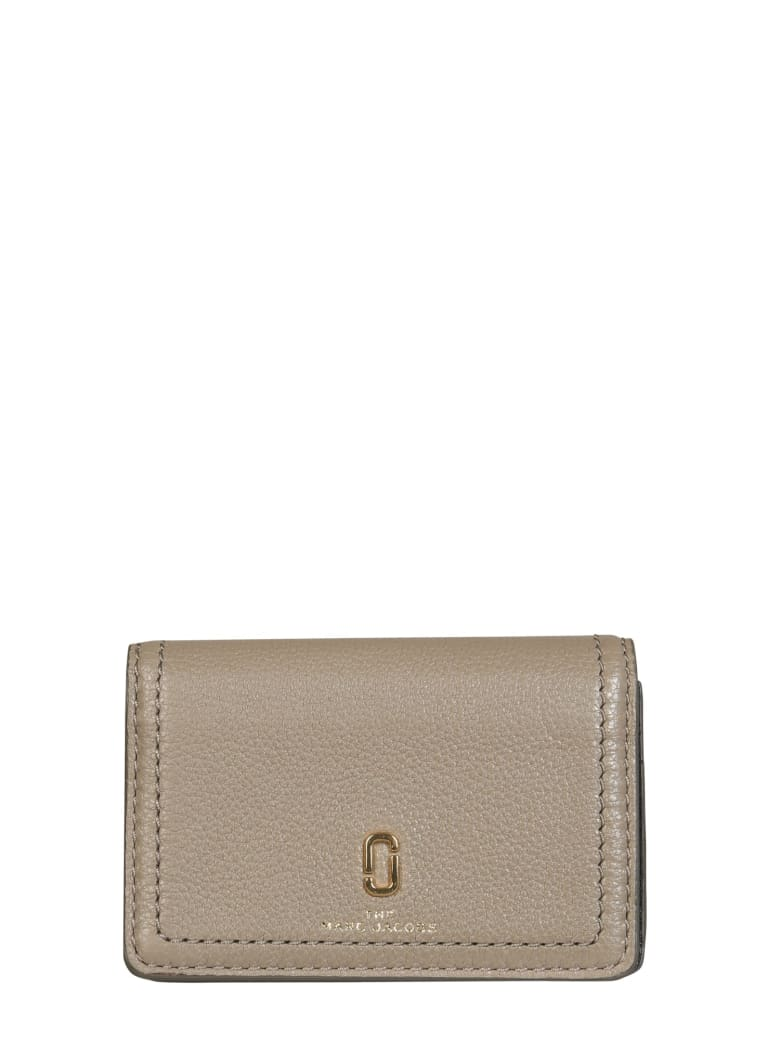 Marc Jacobs Wallet With Logo - Cement