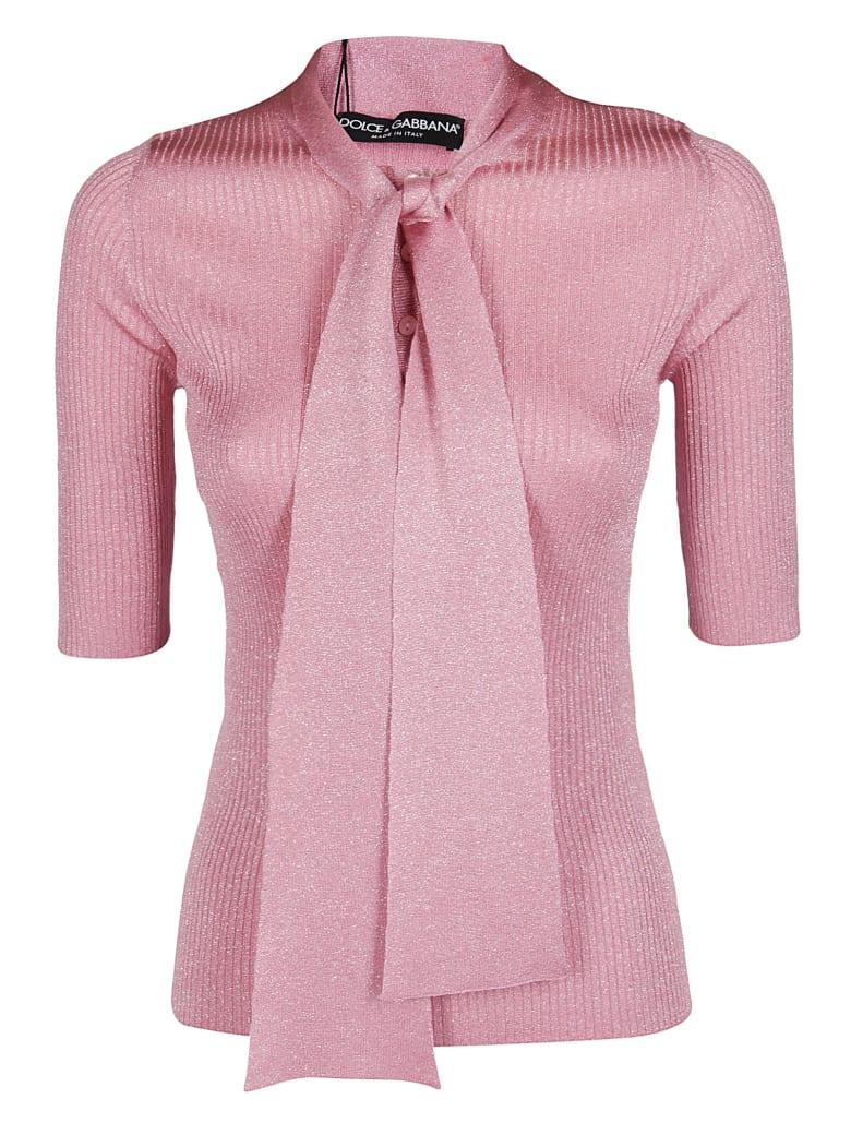 Dolce & Gabbana Bow Detail Blouse - Pink