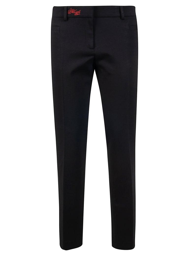 Philosophy di Lorenzo Serafini Embroidered Logo Trousers - Black