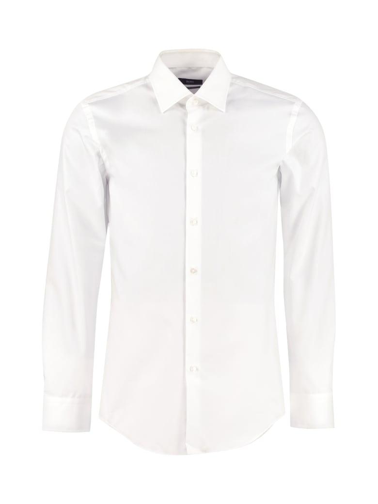 Hugo Boss Jango Slim Fit Cotton Shirt - Blue