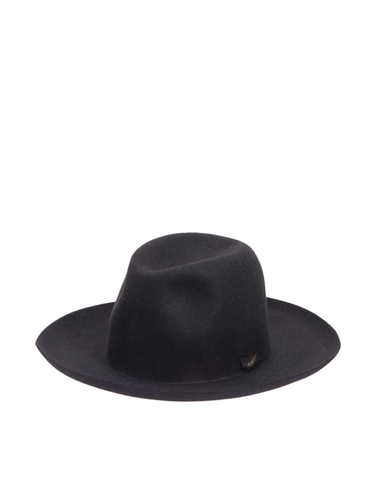 Borsalino Brimmed Felt Large Hat - Black