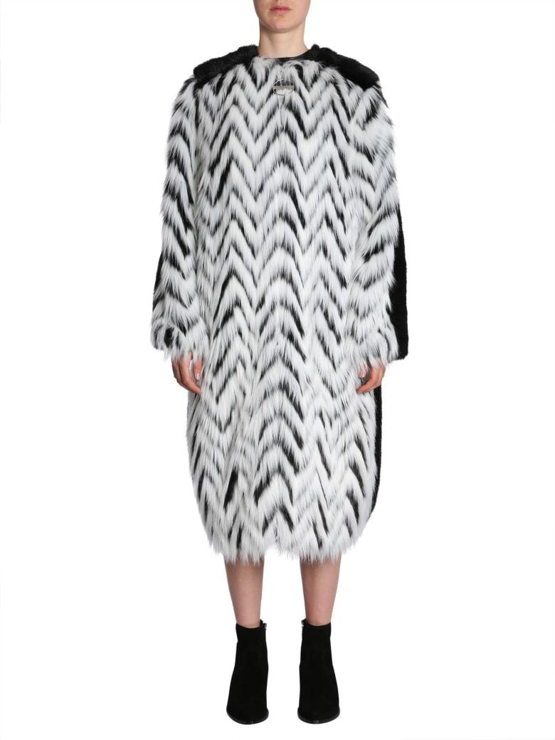 Givenchy Faux Fur Long Coat - NERO