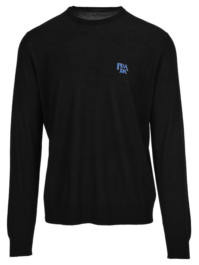 Prada Prada Intarsia Logo Sweater - BLACK