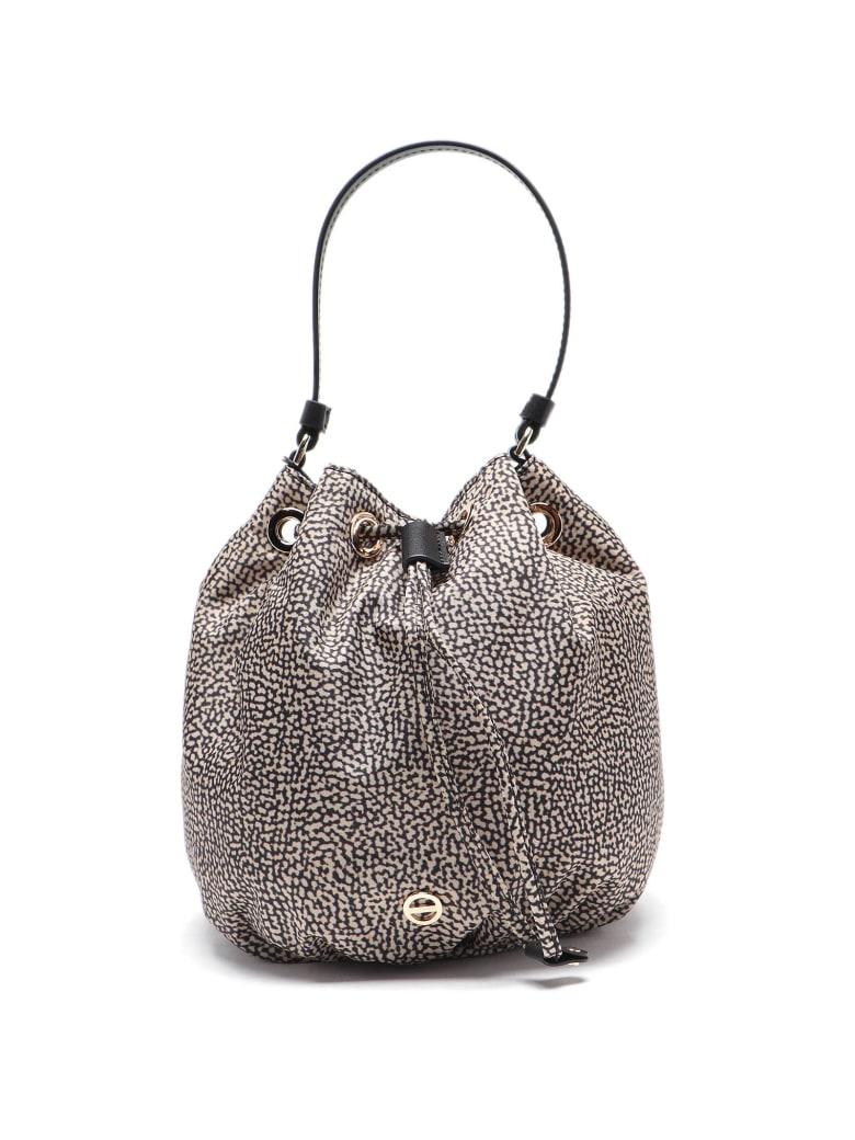Borbonese Bucket Bag Small - Op Naturale/nero